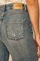 Jeansy damskie w fasonie culotte niebieskie