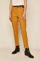 Spodnie damskie z kantem żółte