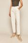 Spodnie damskie slouchy białe