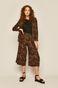 Spodnie damskie culottes wzorzyste