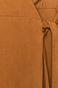Sukienka damska z zakładanym dekoltem brązowa