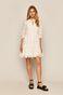 Sukienka damska ażurowa biała
