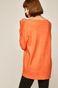 Sweter damski ze spiczastym dekoltem pomarańczowy