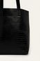 Torebka damska z motywem skóry krokodyla czarna
