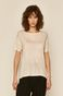 T-shirt damski kremowy