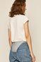 T-shirt damski z transparentnymi wstawkami biały