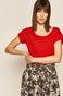 T-shirt damski gładki czerwony