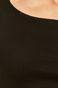 T-shirt damski z z dekoltem typu łódka czarny
