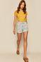 T-shirt damski z bawełny organicznej żółty