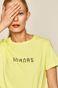 T-shirt damski z nadrukiem żółty