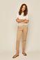 Bawełniany t-shirt damski z ażurowymi wstawkami biały