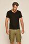 T-shirt męski z kieszonką czarny
