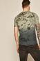 Bawełniany t-shirt męski wzorzysty zielony