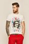 T-shirt męski Sex Pistols z nadrukiem biały