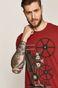 T-shirt męski Retro Holidays czerwony