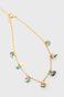 Bransoletki na kostkę damska złota z ozdobnymi elementami (2-pack)