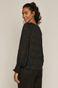 Bluzka damska z recyklingowanego poliestru czarna