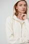 Bluza damska z kapturem kremowa