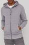 Bluza męska z kapturem w drobny wzór szara