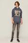 Bawełniana bluza męska Banksy's Graffiti niebieska