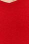 Longsleeve damski z prążkowanej dzianiny czerwony