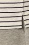 Bawełniany longsleeve męski w paski biały
