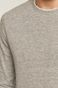 Bawełniany longsleeve męski ze strukturalnej dzianiny szary
