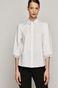 Koszula bawełniana damska z bufiastymi rękawami biała