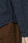 Lniana koszula męska ze stójką granatowa