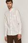 Koszula męska lniana biała