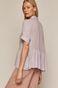 Koszula damska z baskiną fioletowa