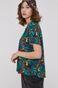Wzorzysta koszula damska z wiskozy zielona