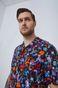 Wzorzysta koszula męska z wiskozy