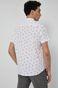 Wzorzysta koszula męska z krótkim rękawem biała