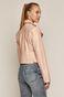 Ramoneska damska ze skóry ekologicznej różowa