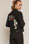 Kurtka jeansowa damska Banksy's Graffiti czarna