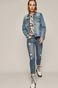 Kurtka jeansowa damska Frida Kahlo niebieska