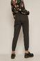 Spodnie damskie joggery z bawełnianej tkaniny czarne