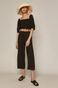 Spodnie damskie culotte z lyocellu czarne
