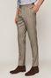 Spodnie męskie slim z tkaniny w kratę beżowe