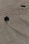Spodnie męskie z tkaniny w kratę szare