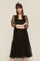 Tiulowa sukienka damska czarna