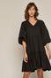 Sukienka damska w kształcie litery A z bawełną z recyklingu czarna