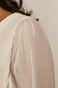 Sukienka damska z plisowanej tkaniny kremowa
