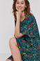 Sukienka damska z wiskozy z falbanką zielona