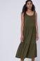Sukienka damska z bawełny organicznej zielona