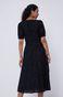 Ażurowa sukienka damska z dekoltem V czarna