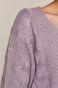Sweter damski z warkoczowym splotem różowy