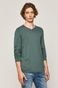 Sweter męski z dekoltem w serek zielony