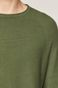 Sweter męski z bawełnianej dzianiny zielony